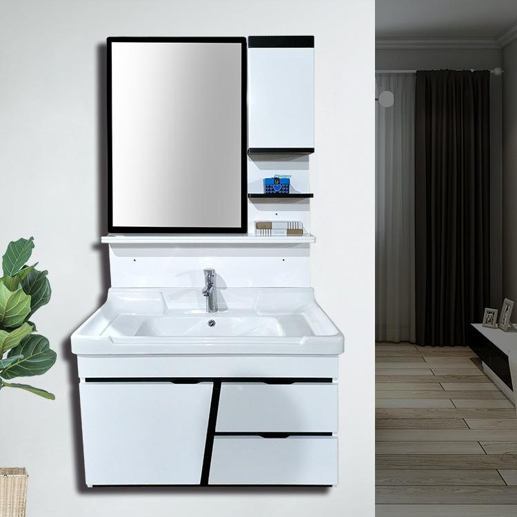 现代简约浴室柜组合pvc洗手台盆组合卫浴柜卫生间洗漱台一件代发