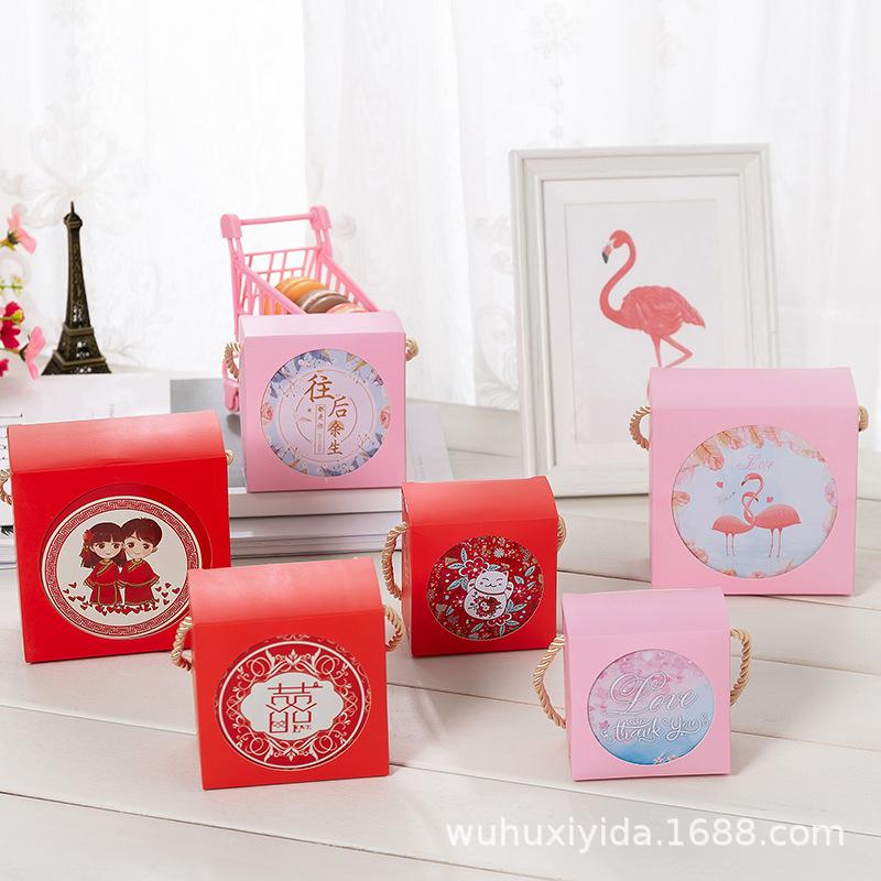 中号含手提袋2019新款喜糖盒子马口铁结婚礼伴手礼中式糖果包装盒