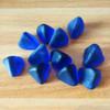 供應鈷藍色玻璃石三棱石水族裝飾造景火爐塊