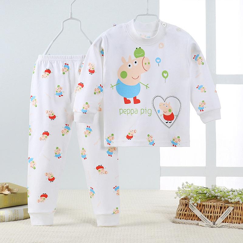 男童女童秋衣秋裤儿童内衣套装纯棉婴幼儿宝宝睡衣家居服一件代发