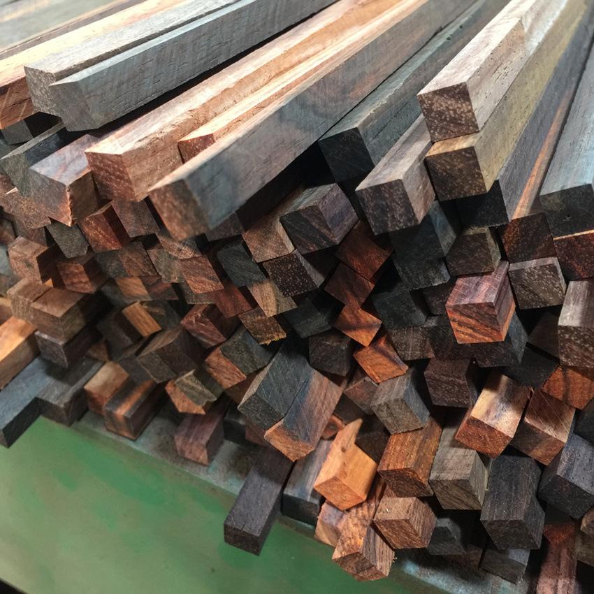 酸枝筷胚緬花贊比亞血檀雞翅木皮黑等各種木材支持定制廠家