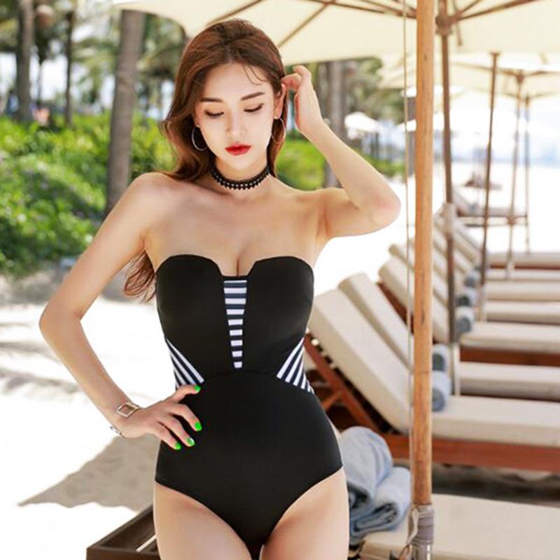 2018新款韩版新款性感分体游泳衣比基尼泳衣女士显瘦度假泳衣