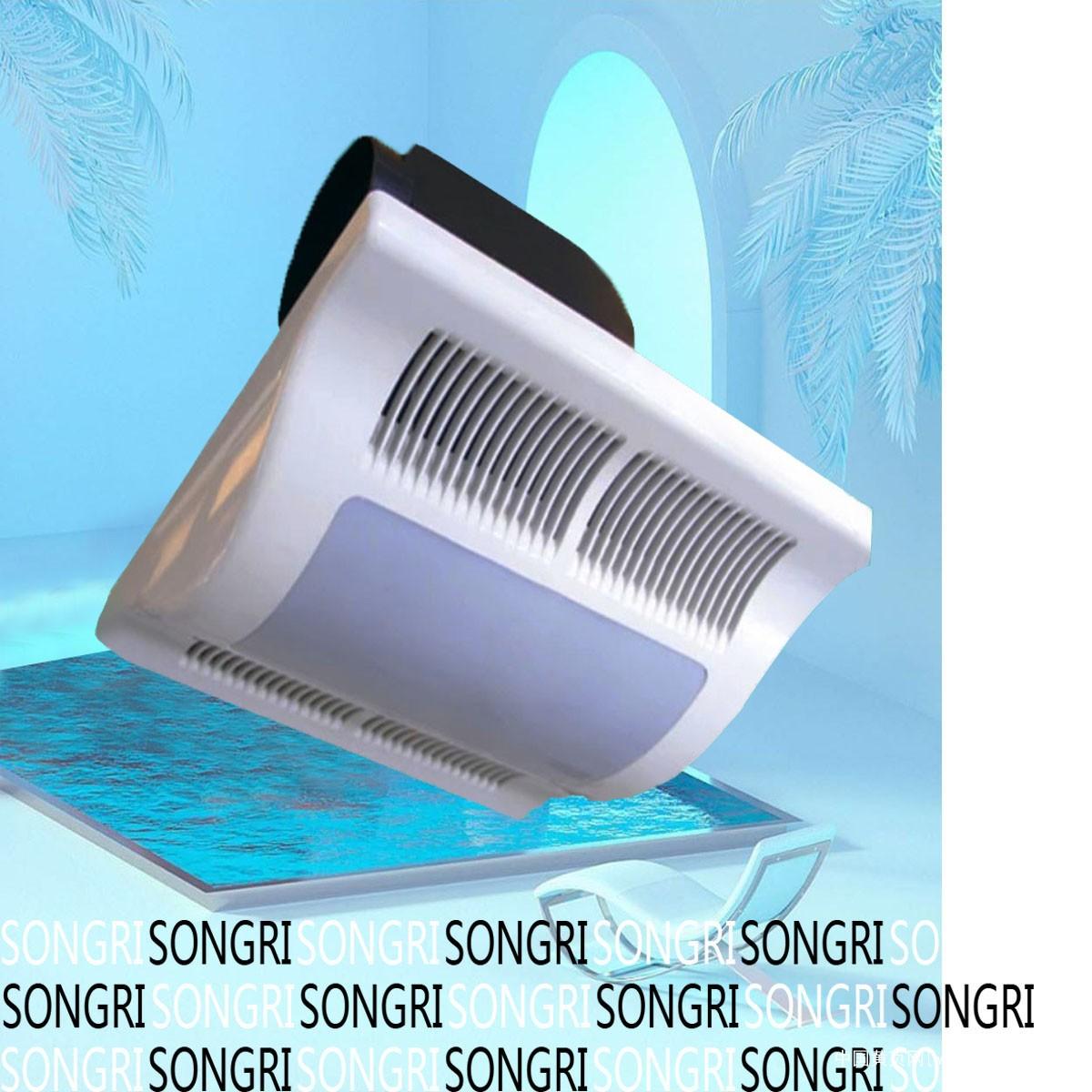 上海松日排气扇10寸换气+照明德国PC原料吊顶排气扇浴霸
