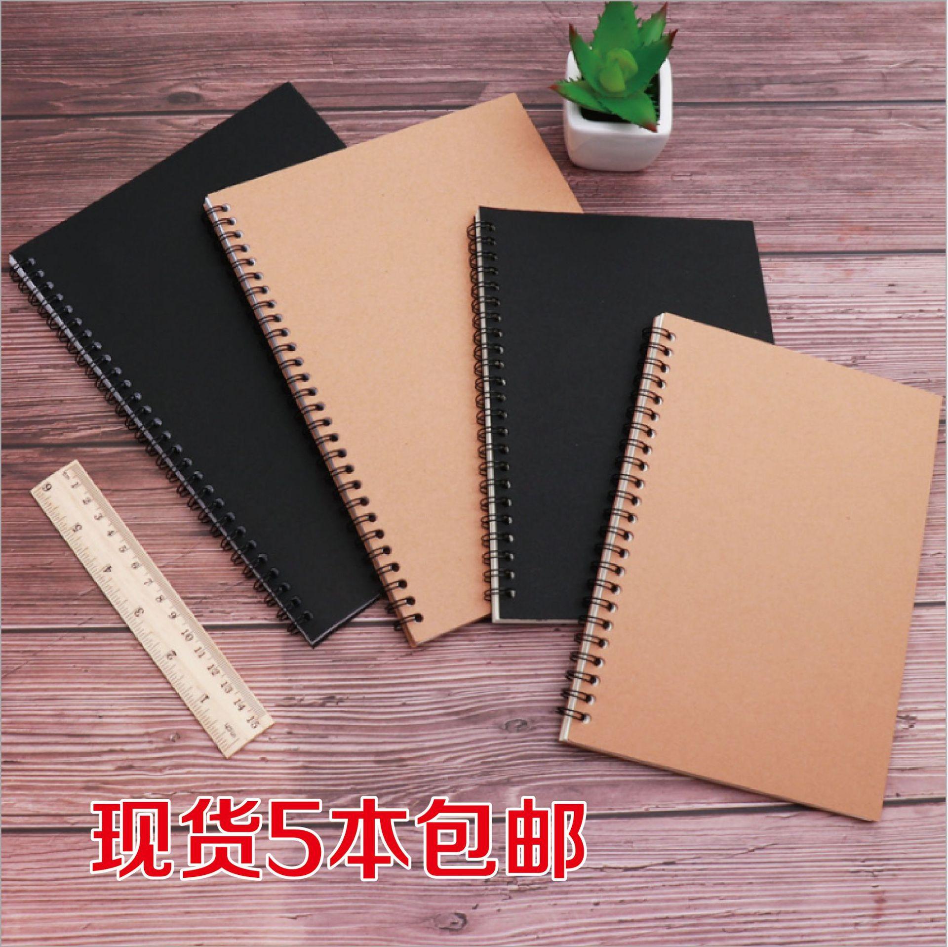 A5学生笔记本定制批发B5日记本50张100页记事本50款线圈本