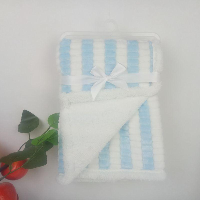 外贸毯贝贝绒阳离子菠萝格玉米条毛毯羊羔绒舒棉绒毯