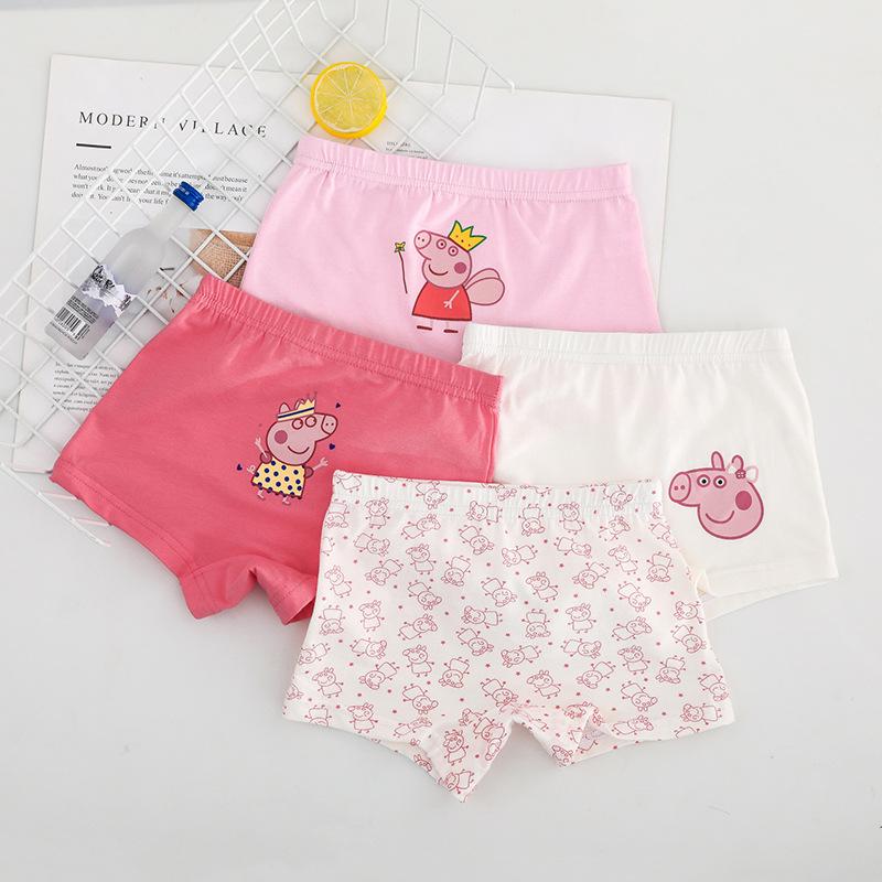 女童内裤纯棉平角裤卡通小猪可爱小孩女孩公主儿童短裤小童四角裤