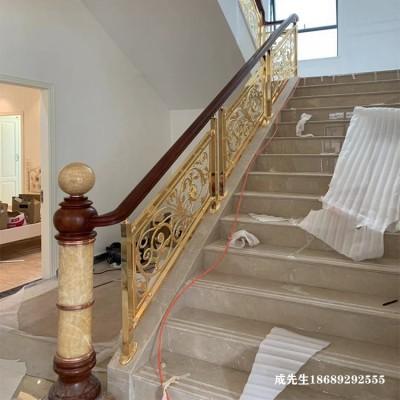 自建房楼梯镀铜扶手供应商报价