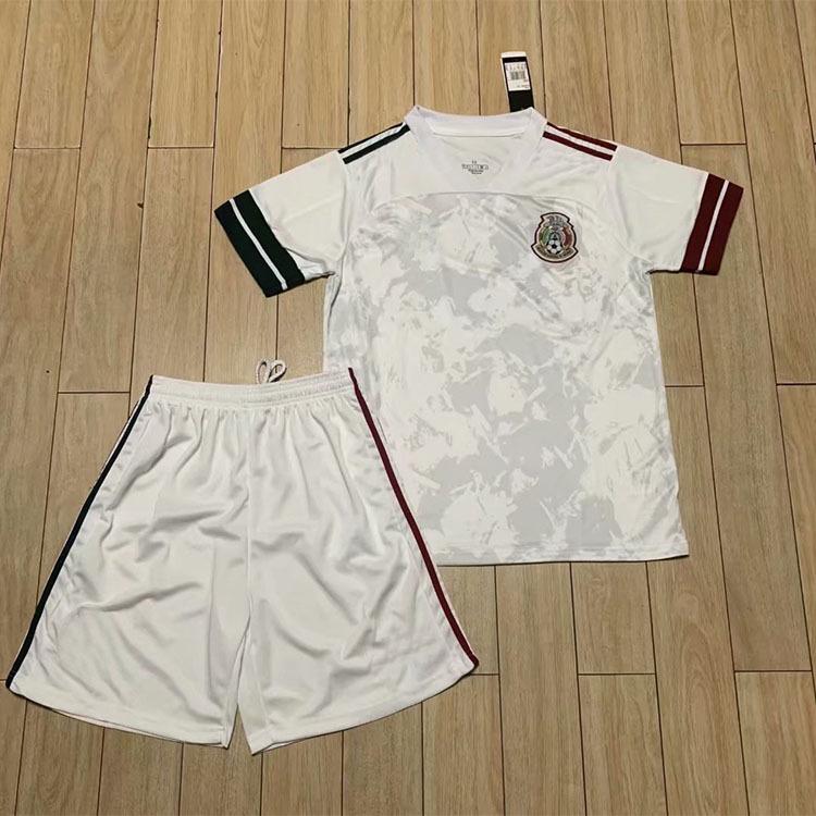 墨西哥儿童足球服套装伐木短袖球服西班牙俄罗斯尼日利亚国家队