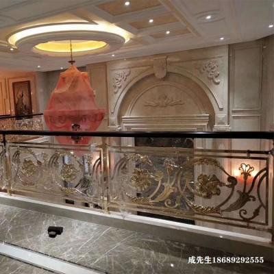 铜艺雕刻楼梯护栏的安装优势了解一下