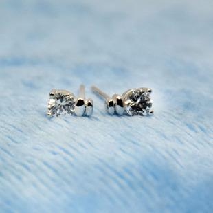 吉祥星S925纯银锆石耳钉 高端微镶锆石 八心八箭 欧美饰品 一件代