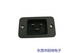 C20电源公座-三横AC插座-深圳锁式电源插座