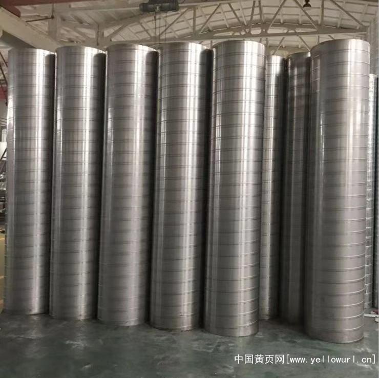白铁皮排风管道 201不锈钢螺旋风管厂家批发