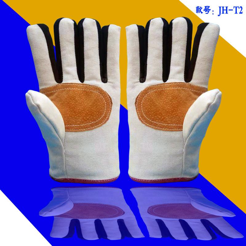 工厂直销复合帆布手套加厚手心加皮劳保工程电气焊耐磨防割手套