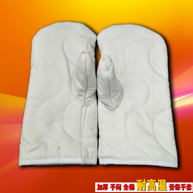 厂家直销三指五指全棉手闷子纯棉手套加厚耐磨耐高温隔热防烫手套