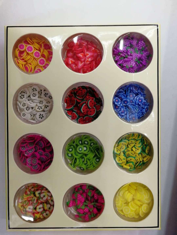史莱姆软陶水果切片水晶泥装饰材料米粒泥仿真米粒手工制作精美