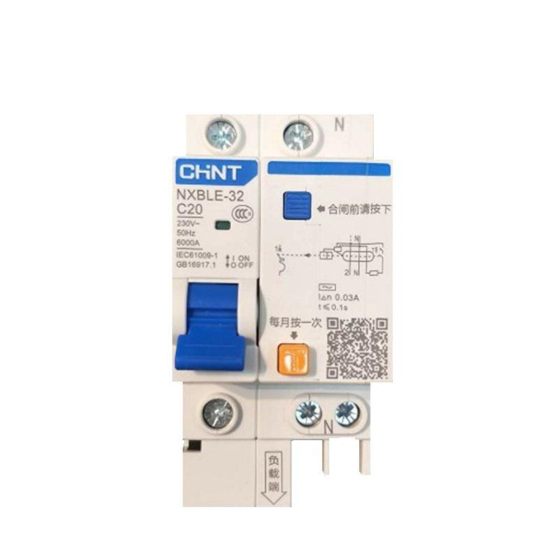 正泰昆仑NXBLE-631P+NC6330mA6kA家装漏电保护器1P63A带漏电