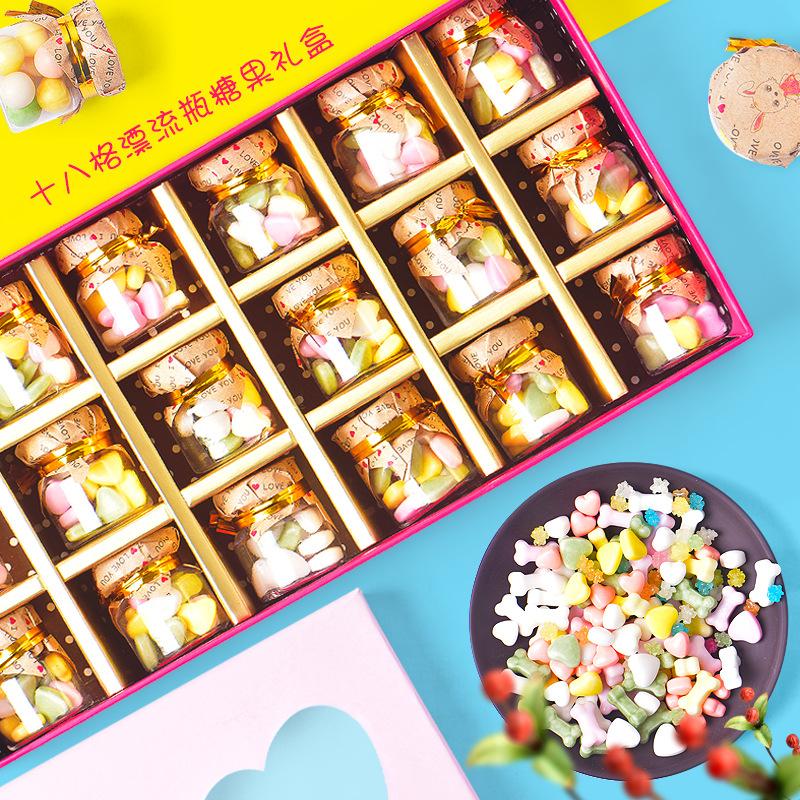 新品迷你许愿瓶糖果礼盒装漂流瓶糖果儿童创意零食生日礼物批发