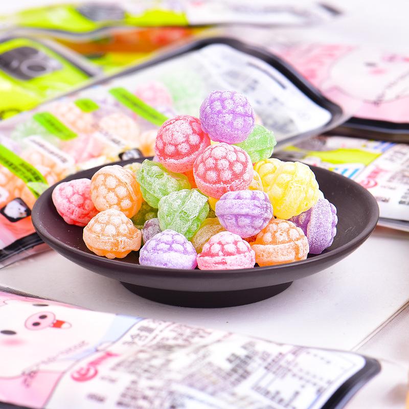 水果系列趣味手机壳糖果脆皮qq果汁软糖含片压片糖硬糖小零食批发