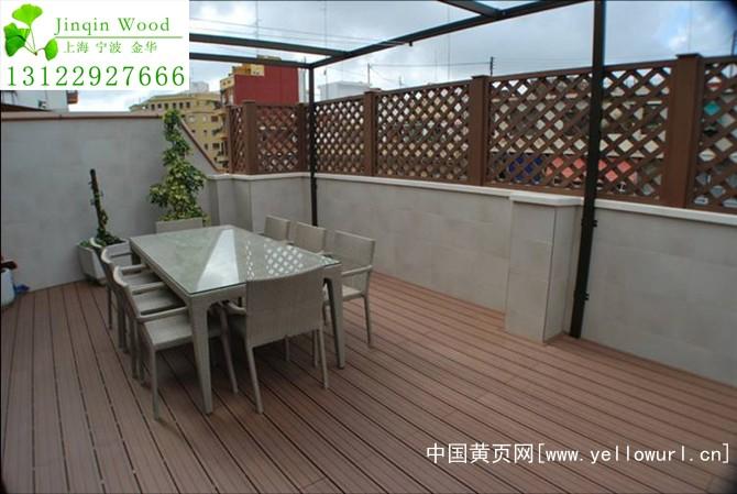 义乌木塑木地板生产工厂、销售PVC栏杆栅栏花架亭子批发安装