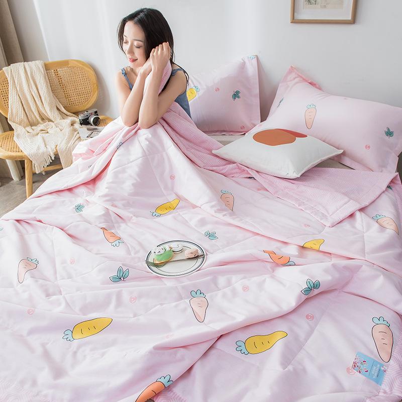 恩丰家纺全棉小清新夏凉被2米1.8米1.5米双人空调被单人纯棉夏被