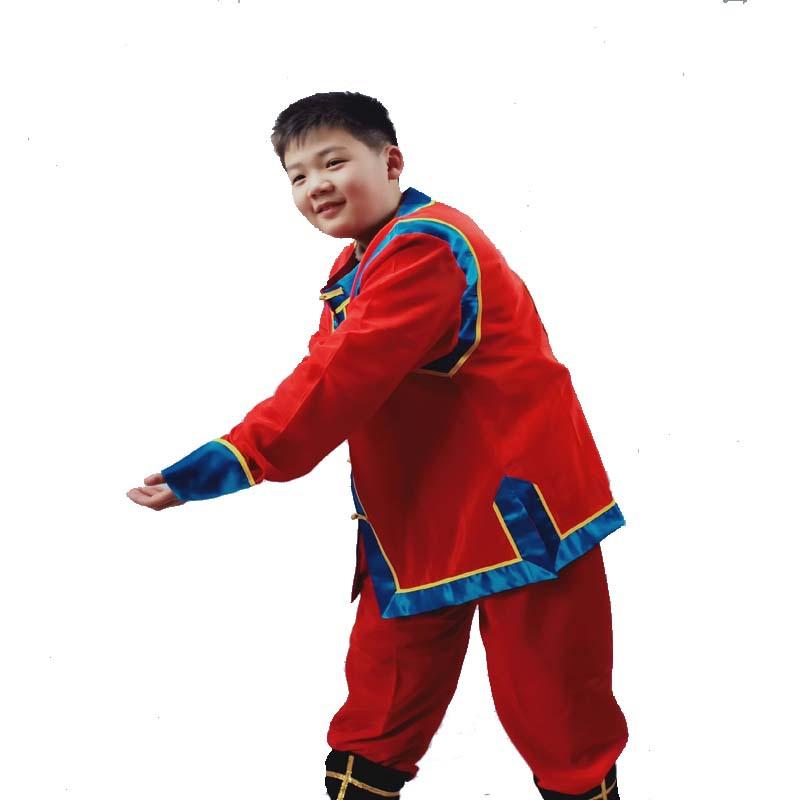 京剧戏剧儿童轿夫戏装戏曲中式抬花轿轿夫服装中式婚礼轿子戏服厂