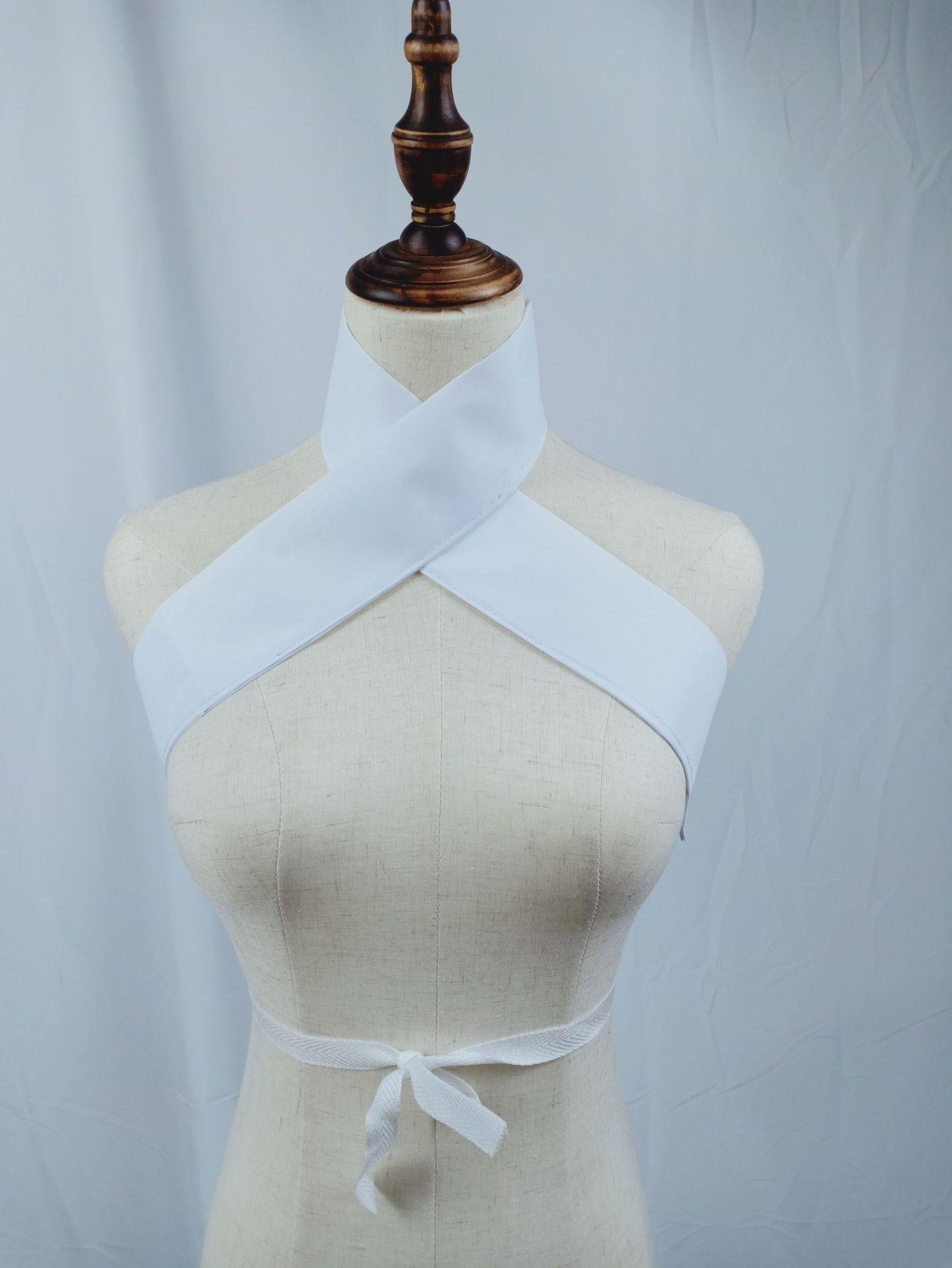 京剧戏剧戏曲演出用品棉护领水领假领小旦小生内衣白领