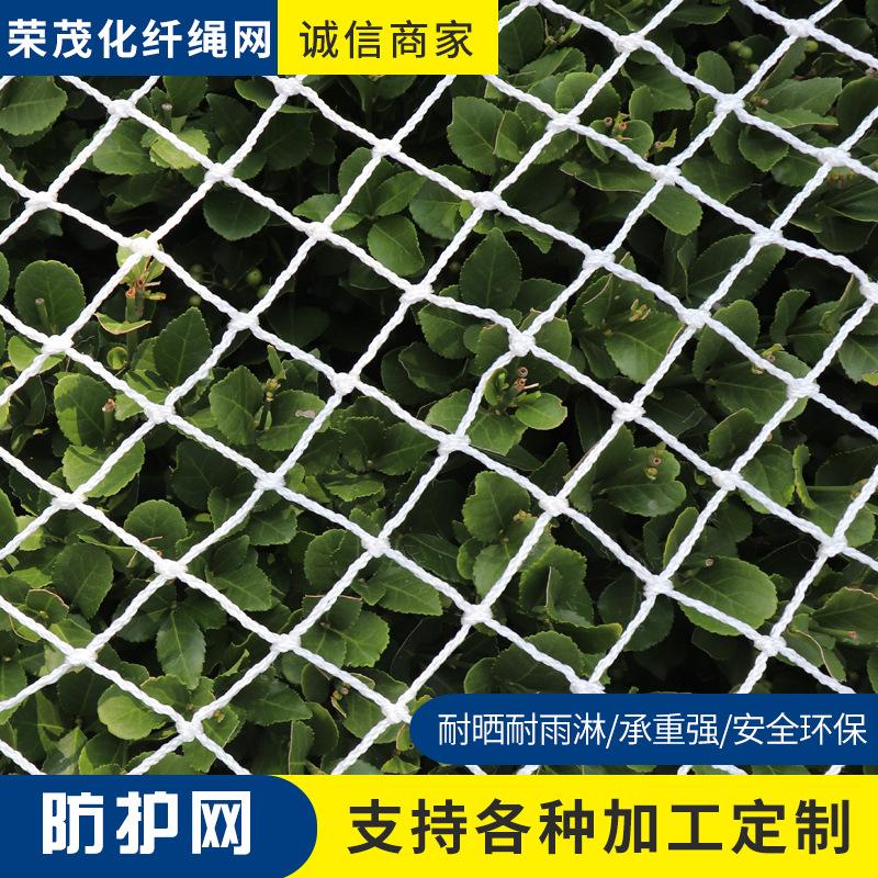 阻燃建筑安全网施工防护防坠网白色平网球场围网尼龙绳网厂家直销
