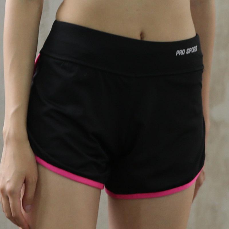 运动短裤女宽松速干网眼透气防走光健身短裤瑜伽裤跑步热裤夏
