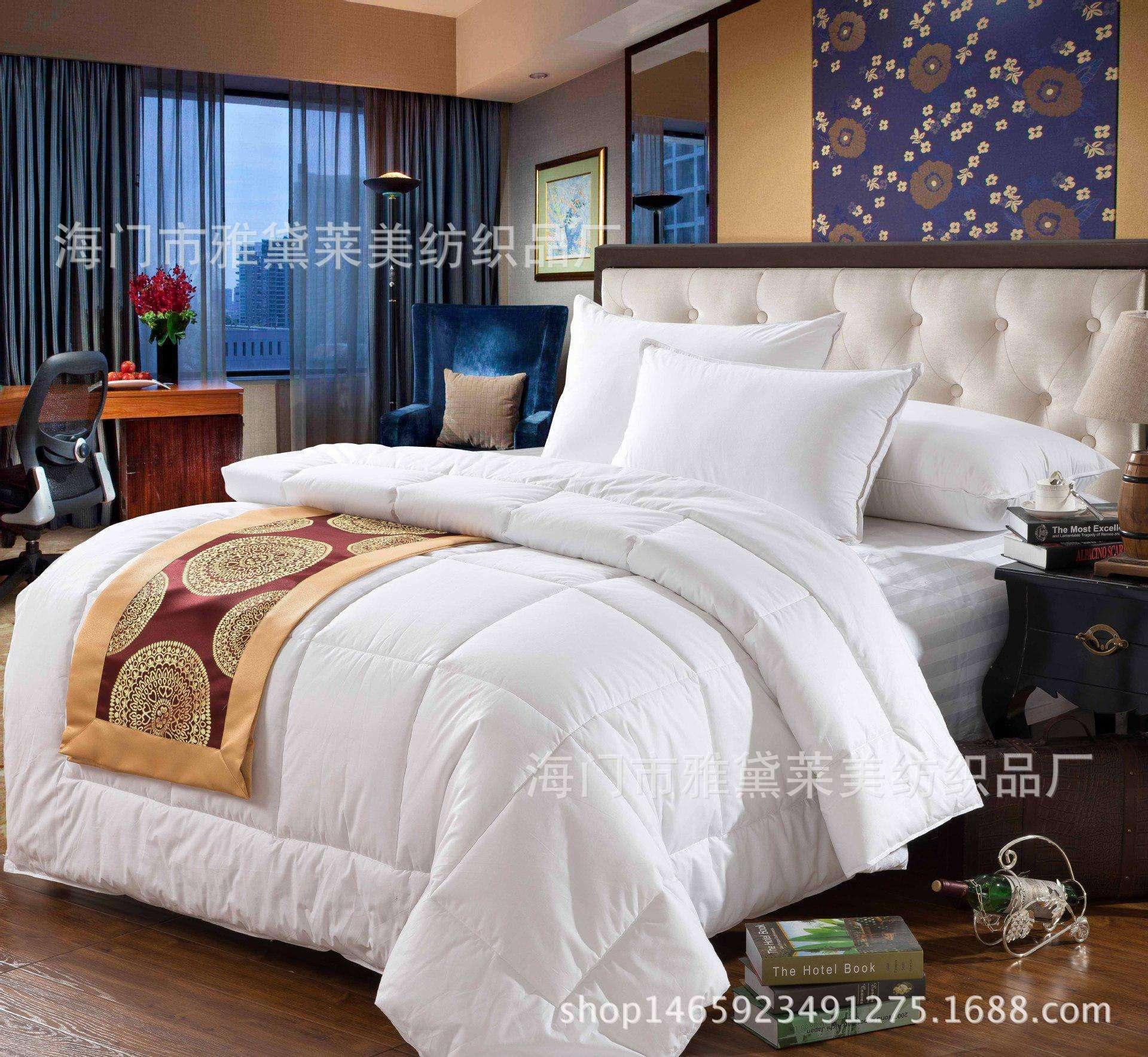 宾馆酒店床上用品优质宾馆夏被酒店夏被仿丝棉水洗久不变型批发