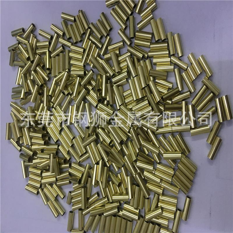 薄壁黄铜管H65精密黄铜管黄铜毛细管铜管定制切割铜管定制
