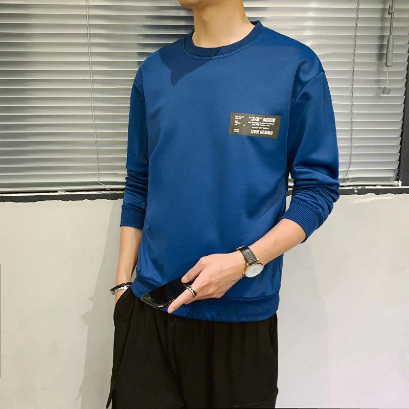 2020春季新款男纯色个性日系原宿风潮流运动卫衣套装修身潮流