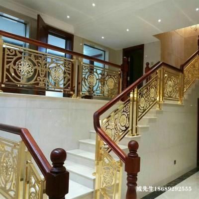 郑州金色全铜楼梯扶手图片及价格