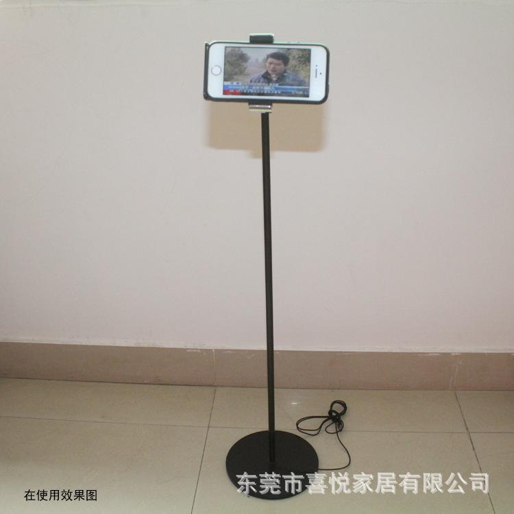 高端金属落地式充电手机支架手机夹子无线充电支架懒人手机支架