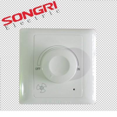 上海松日220V吊扇开关调速器 电风扇通用型无极调速开关面板